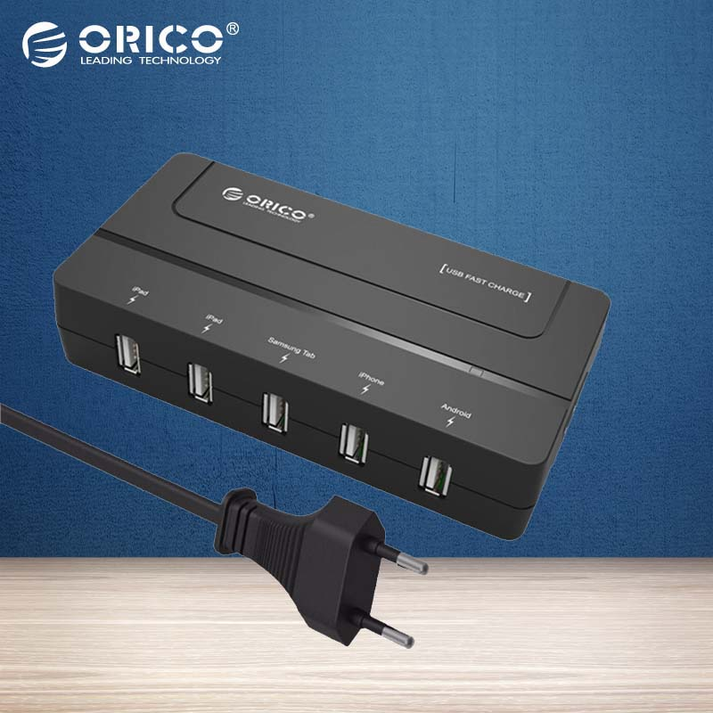 orico dch 5u eu 5 port usb charger wall chargeur usb eu adapter travel usb 2a charger for iphone. Black Bedroom Furniture Sets. Home Design Ideas