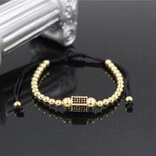 PINIYA Drop Shipping Fashion Brand Mens Punk Bracelets Jewelry New Micro Pave CZ Hexagon Charm Braiding Macrame Bracelet Bangle
