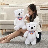 Nova Vinda 40 Cm 2 Estilo Urso De Pelúcia Branco Com Triângulo toalha de Pelúcia Urso Polar de Pelúcia Crianças Aniversário Namorada presentes de Natal presente