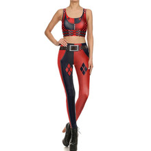 Harley Quinn Bodysuit Bra Suit Cosplay Costume Halloween For Woman Summer Top Jumpsuits