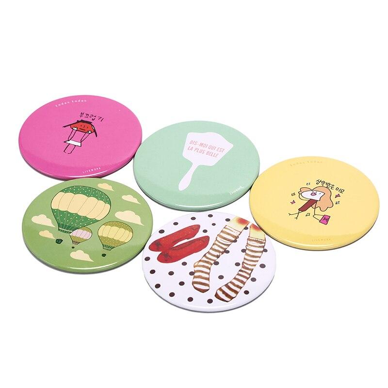 Ausdauernd 1 Stücke Tasche Spiegel Dame Make-up Spiegel Cartoon Tragbare Kompakte Tasche Mini Nette Kleine Zufällige Farbe