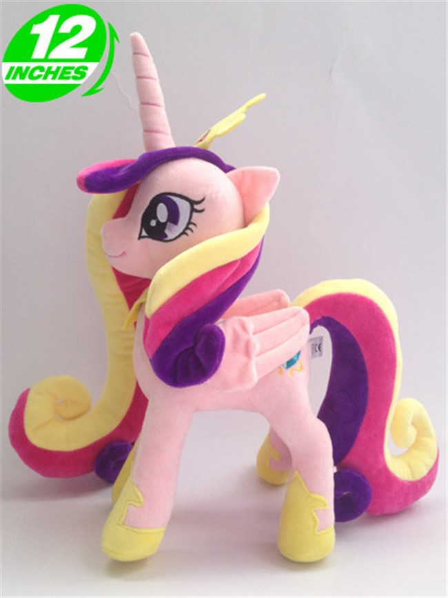 Free shipping 30cm Princess Cadance Cartoon Pets Horse Unicorn Plush Toys Stuffed doll for birthday gift fancytrader new style giant plush stuffed kids toys lovely rubber duck 39 100cm yellow rubber duck free shipping ft90122