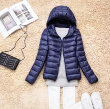 New Fashion 2017 Winter Women 90% White Duck Down Jacket Women's Hooded Ultra Light Down Jackets Warm Winter Coat  Free Shipping