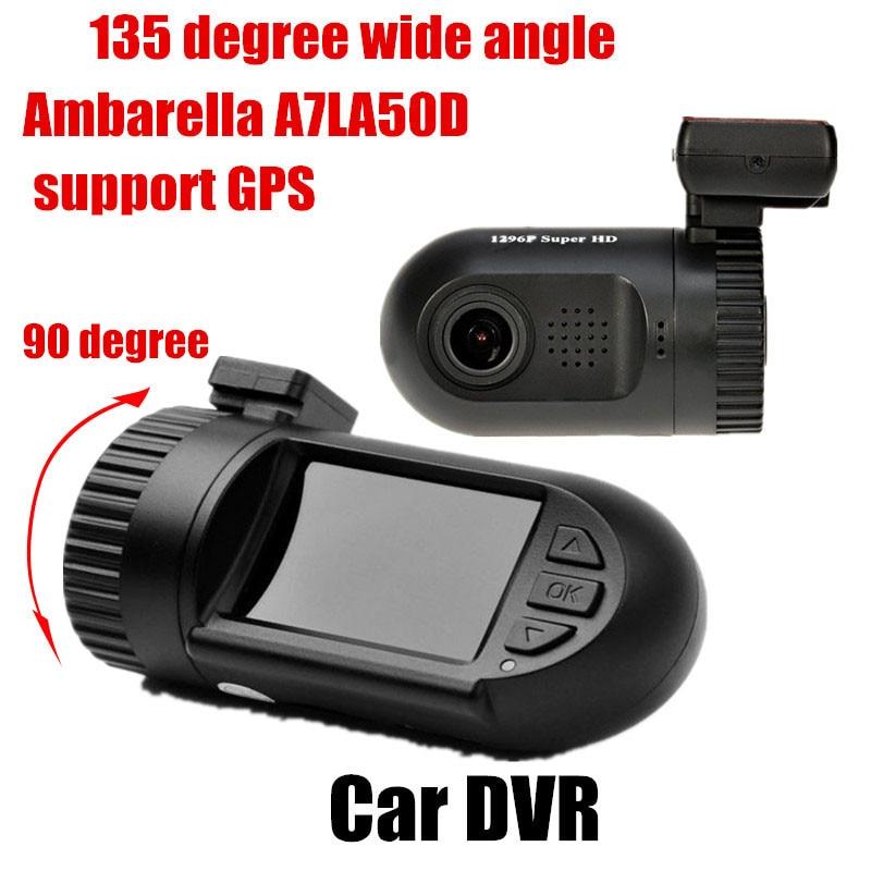 Livraison gratuite 135 degrés grand angle Original Mini0805 Ambarella caméscope voiture DVR avec enregistreur vidéo GPS 1.5 pouces écran TFT