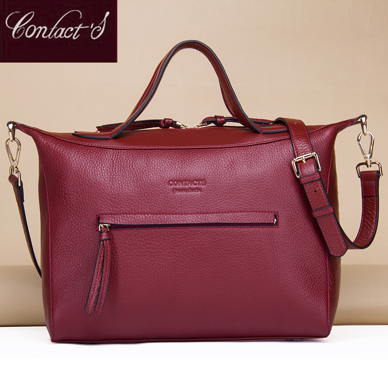 New Fashion Crossbody Bags for Women Genuine Leather Handbag Large Capacity Shoulder Bag Red Messenger bag High Quality 100% genuine leather women handbag 2017 new commuter type fashion handbag crossbody shoulder handbag women messenger bags