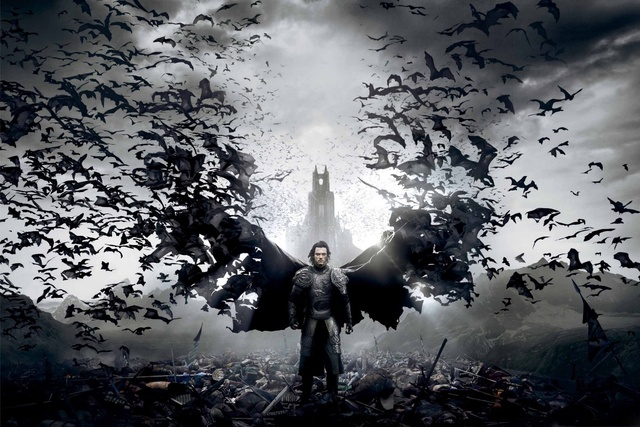 Dracula Untold Luke Evans Wallpaper Bats Monster Wings Dy060 Room