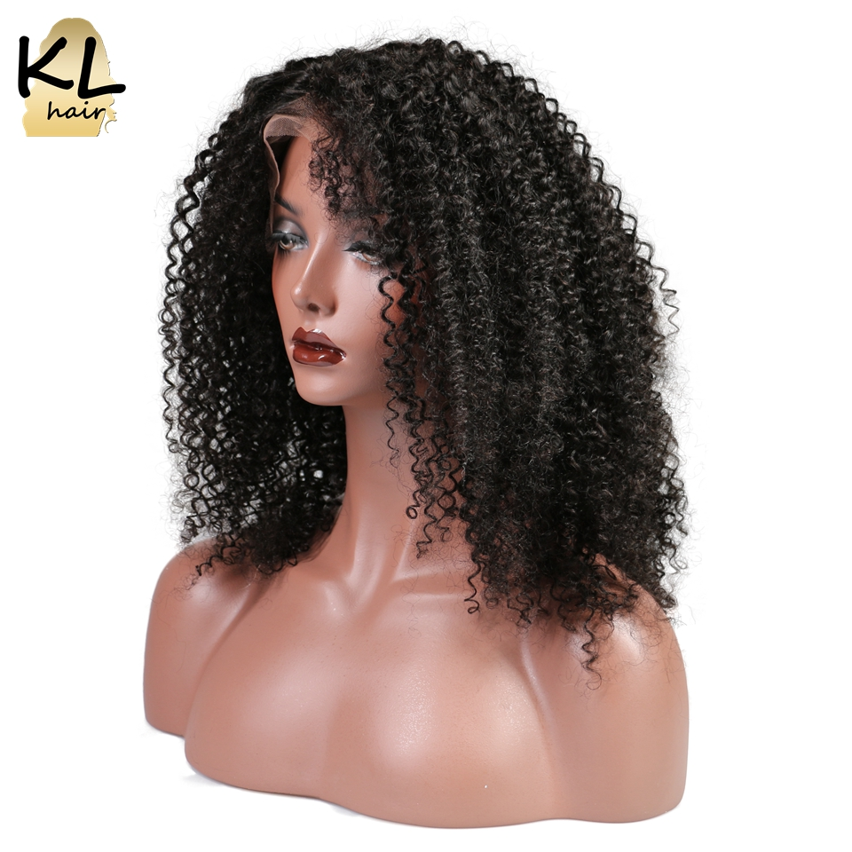KL Hair Lace Front Human Hair Wigs Afro Kinky Curly Natural Color Brazilian Remy Hair Lace Wigs For Black Women With Baby Hair