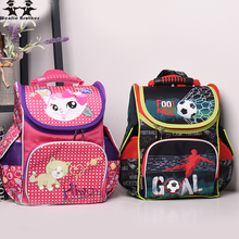 wenjie brother 2018 new  1-3 grade Kids Schoolbag Backpack Orthopedic Children School Bags For Boys and girls Mochila Infantil new kids butterfly schoolbag backpack eva folded orthopedic children school bags for boys and girls mochila infantil