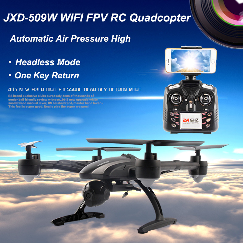 JXD 509W WIFI FPV RC Quadcopter RTF 2.4Ghz with 0.3MP Camera Headless Mode One Key Return jxd 509g 509v 509w 5 8g drone with camera fpv wifi rc quadcopter with camera headless mode one key return real time video fswb