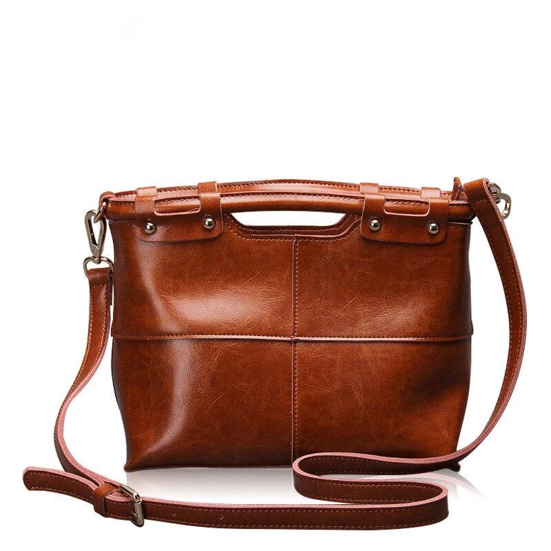 2019 Naujas mados kokybės karvės odos moterų krepšys Vintage Moteriškos rankinės originalios moteriškos peties Messenger krepšiai Rankinės