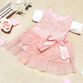 Baby Girls Dresses Children Clothes Cotton Kids Bow Lace Ball Gown Casual Princess Dress Hot