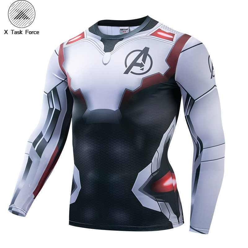 アベンジャーズ 4 Endgame 量子戦争 3D プリント Tシャツ男性圧縮シャツアイアンマンのコスプレ衣装長袖トップス男性 2019