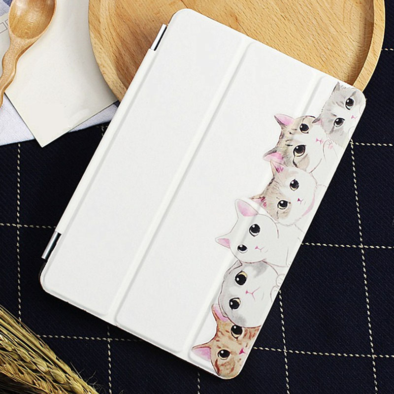 Case for Ipad Mini 4 Fashion Cute Cat Series Auto Sleep /Wake Up Flip PU Leather Case for Ipad Mini 4 Smart Stand Cover flip left and right stand pu leather case cover for blu vivo air