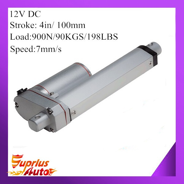 12V 100mm 4inch adjustable stroke 900N 198LBS load 7mm/s 0.28inch/s speed mini industry heavy duty linear actuator SL14 hot sell