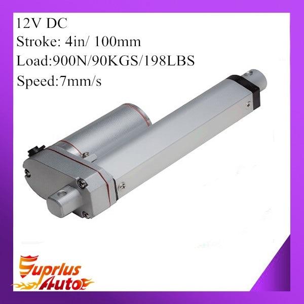 12V 100mm 4inch adjustable stroke 900N 198LBS load 7mm/s 0.28inch/s speed mini industry heavy duty linear actuator SL14 hot sell