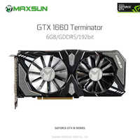 Original MAXSUN GeForce GTX 1660 Terminator 6G Video Graphics Card for Gaming GDDR5 DP HDMI DVI