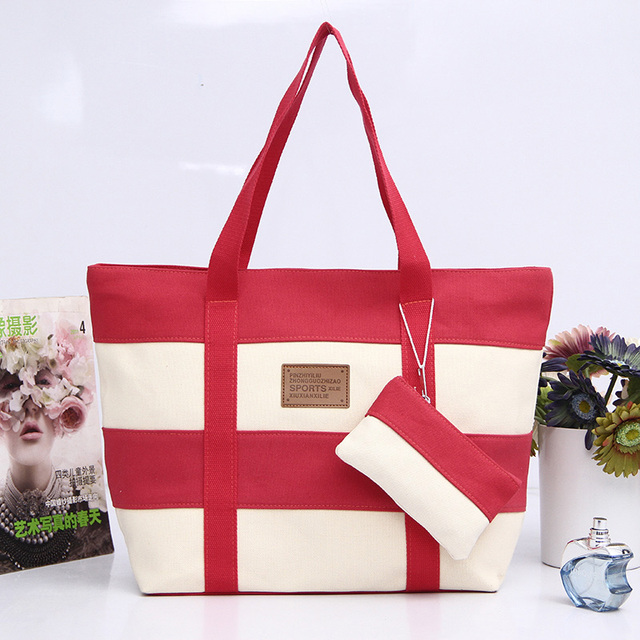 Women Canvas Handbag Zipper Shopping Bag Girl's Tote Hand Bag Ladies Casual Purse Foldable Canvas Crossbody Bags 1
