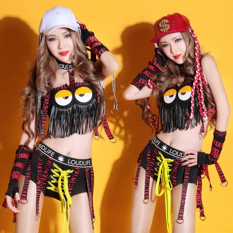 Танцевальные костюмы сексуальные новый бар DS Хип-Хоп Джаз Танец Клубная одежда fringe одежда