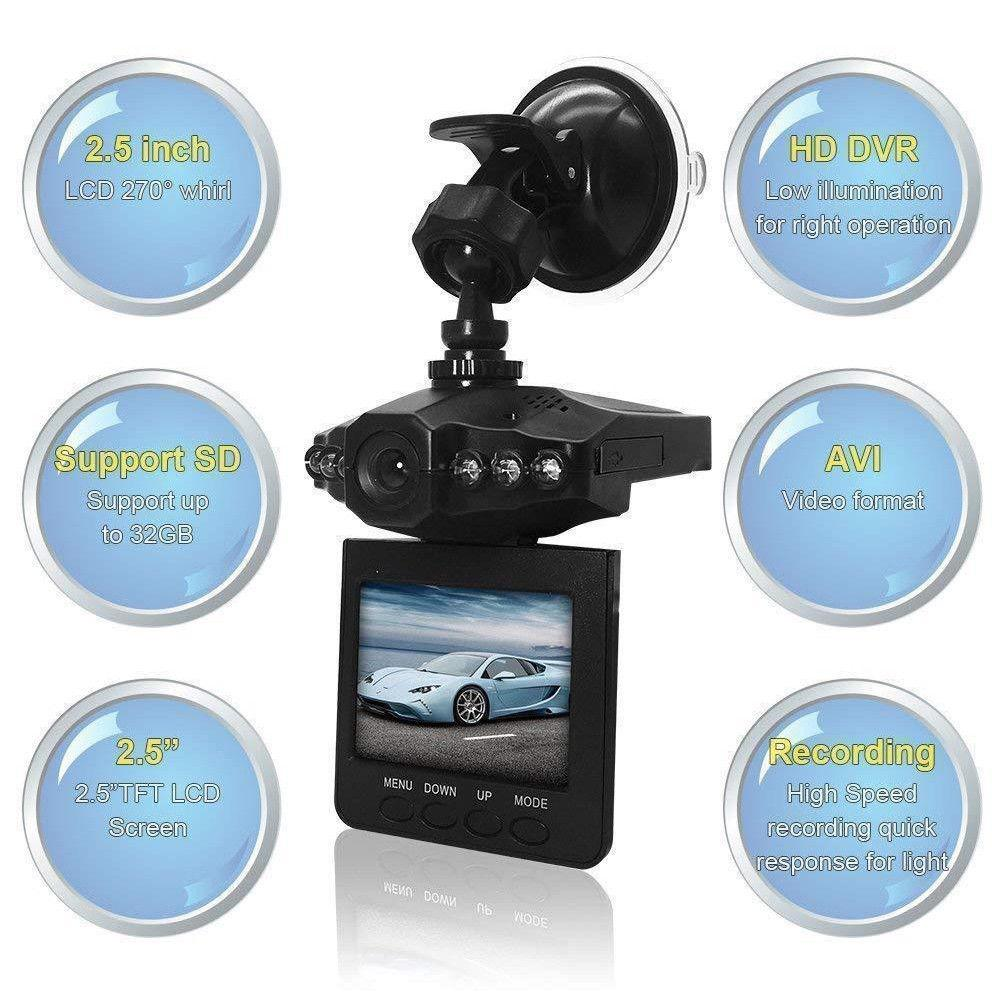 Dragonpad Car Recorder Driving Recorder HD 1080P Infrared Night Vision DVR
