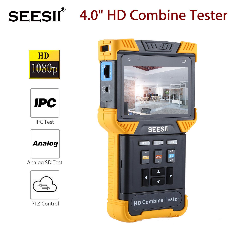 SEESII DT-T60 4.0 HD 1080P 800X480 Combine Tester LED IPC CCTV IP Analog Camera Test ONVIF PTZ Control Handheld 8GB