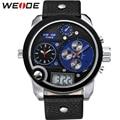 WEIDE Luxury Brand Running Waterproof Sport Watches For Men Blue Dial Analog Digital Display Wrist Watch Gifts For Men