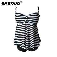 Dots Print Plus Size Vintage Retro Bathing Suit