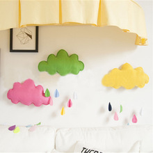 Baby Pillow Kids Room Decoration Handmade Boys Raining Clouds Water Drop Girls Bed Hanging Teepees Tent Toy For Children