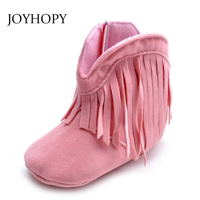 37c5f1601764 Moccasin Moccs Newborn Baby Girl Boy Kids Prewalker Solid Fringe Shoes  Infant Toddler Soft Soled Anti-slip Boots Booties 0-1Yea