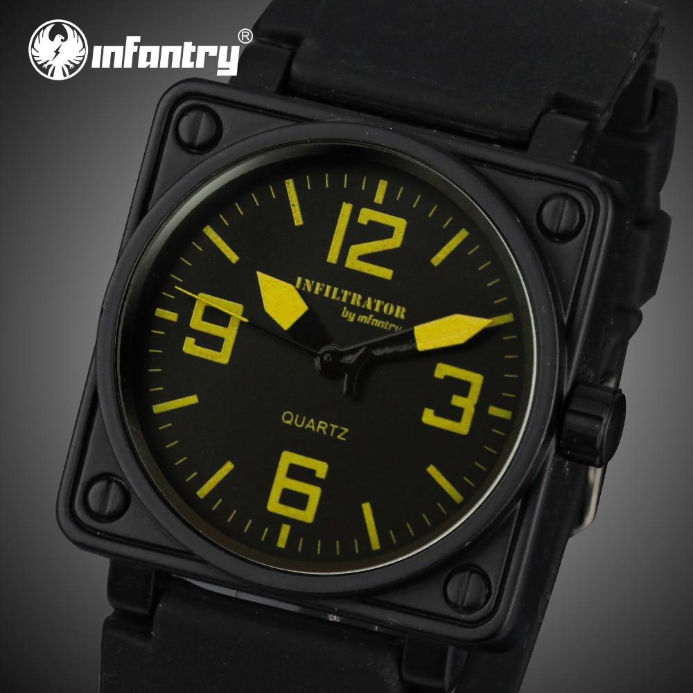 INFANTRY Heren Horloges Militair Vierkant Gezicht Analoog Sport - Herenhorloges