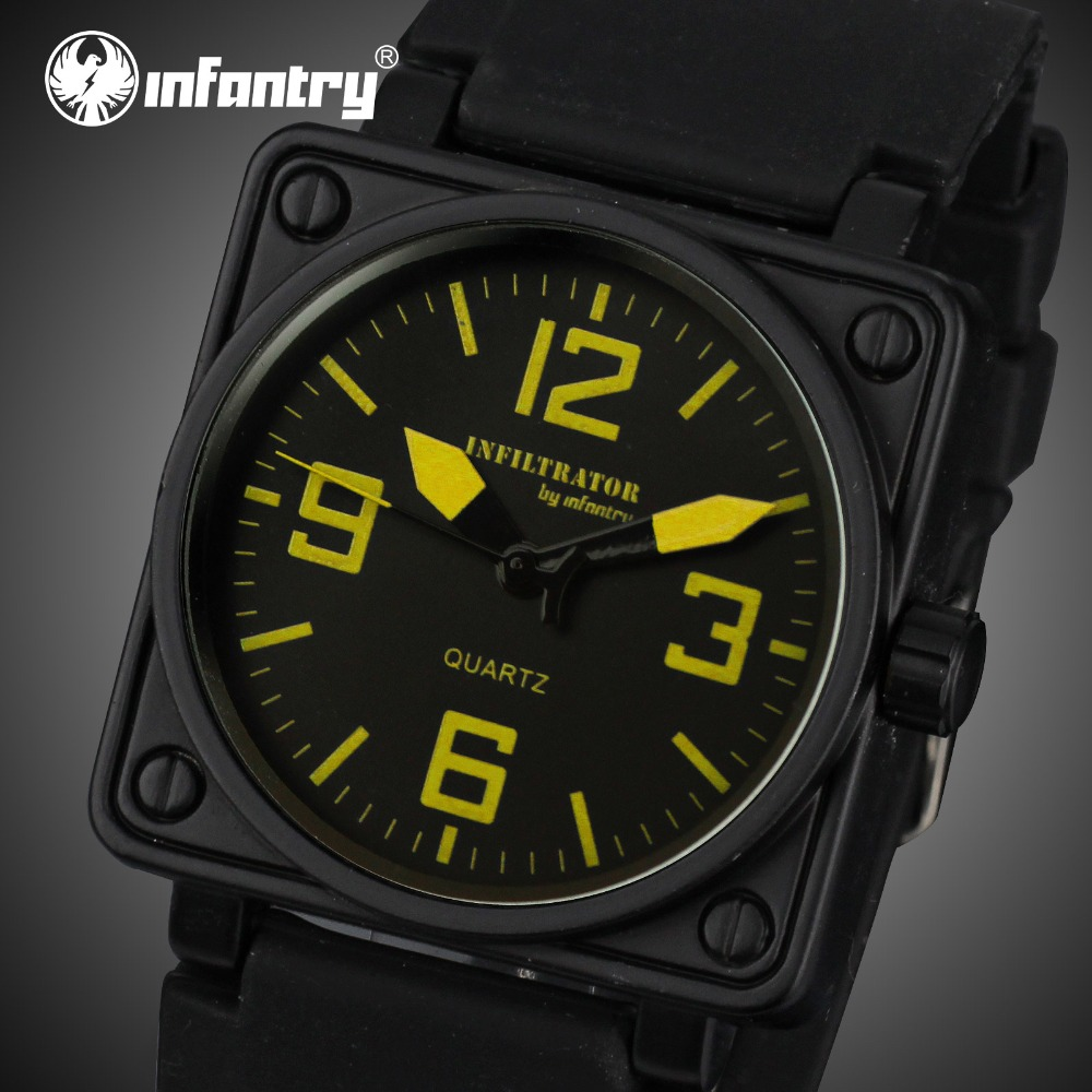 INFANTERÍA Hombres Relojes Militar Cara Cuadrada Analógica Deportes - Relojes para hombres