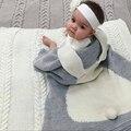 Manta de bebé Blanco Rosado Lindo Conejo Gris Para El Sofá Cama Cobertores de manta de lana Toallas de Baño Mantas Colcha Estera del Juego de Regalo 73*105