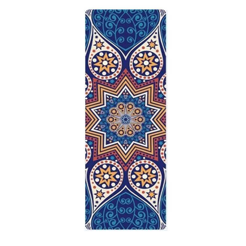 1.5MM/5MM 183*68CM Suede Yoga Mats Fitness Mat Print Natural Rubber Blanket Women Men Indoor Exercise Sports Pads Indian Style