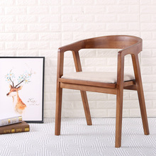 北欧木製ダイニングチェア家の家具コーヒーレストランの寝室の研究カジュアルシンプルなバックアームレストと椅子