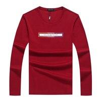 Футболка Длинные рукава футболка мужская 2018 брендов из хлопка с круглым вырезом футболка с длинным рукавом миллиардер осенне зимняя одежда