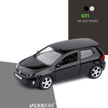 High simulation 1:36 scale Golf GTI alloy pull back car diecast metal model vehicles model kids toy collection free shipping(China)