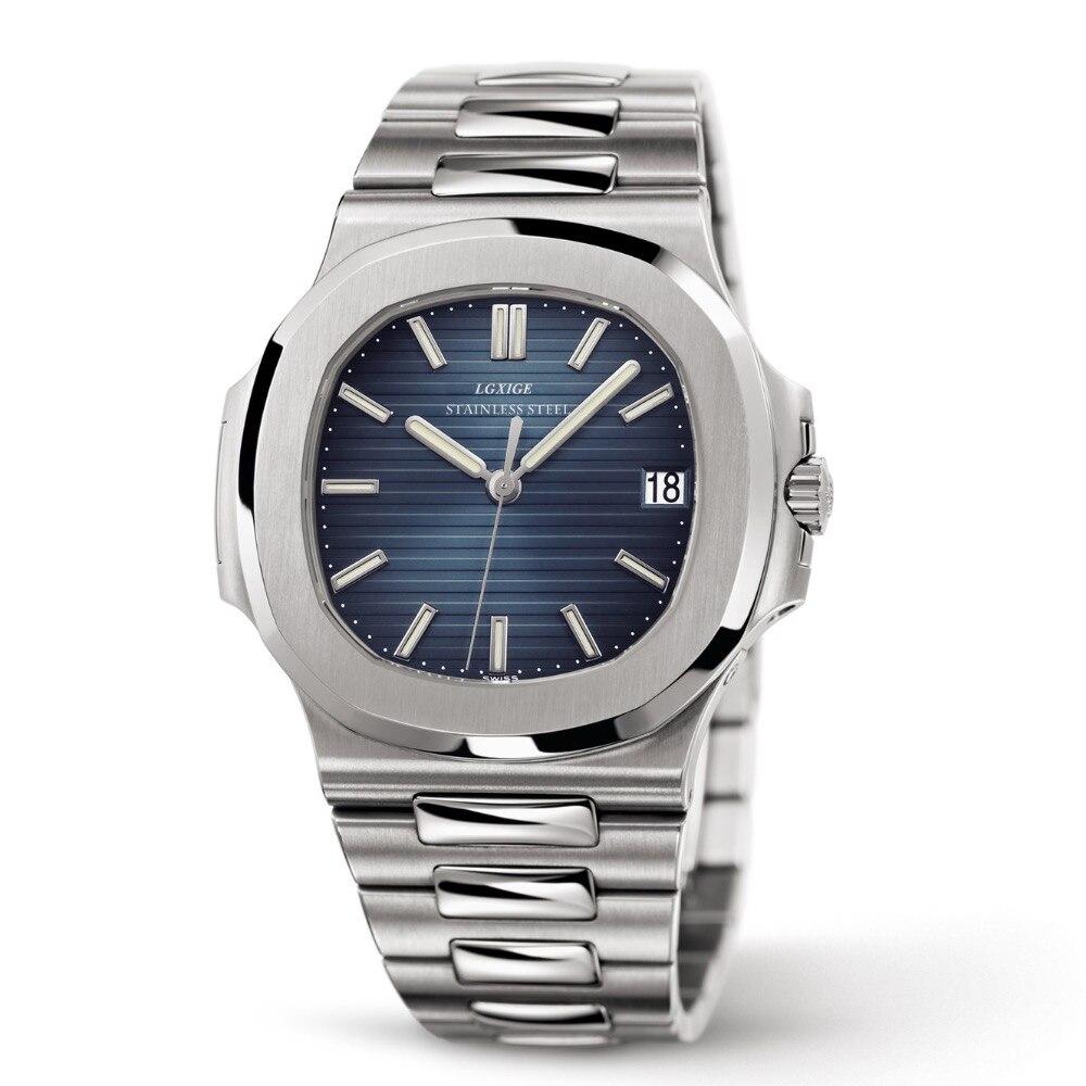 Hommes de Marque de luxe Montres de Sport Militaire Montres Patek Horloge À Quartz En Acier Étanche 30 m Montre-Bracelet Relogio Masculino