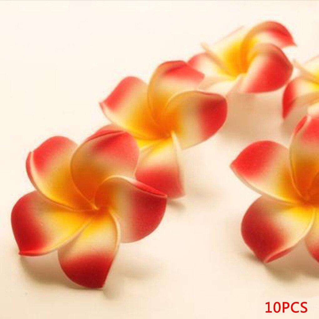 Pretty Charming 10pcs 7cm DIY Artificial Silk Plumeria Egg Flower Heads for Shoes Straw Hat Decor