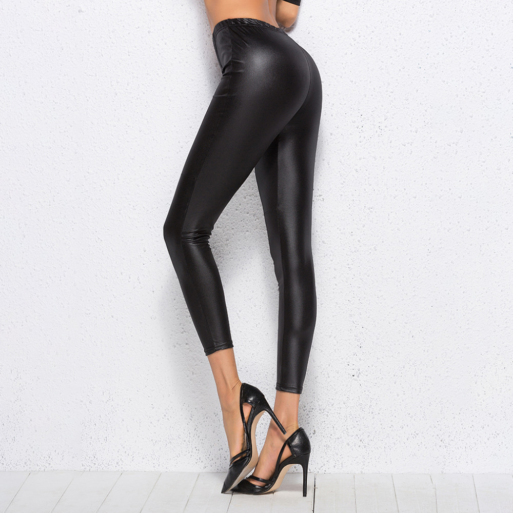 Faux Leather Leggings Black Sexy Women Leggins Thin Black Leggings Calzas Mujer Leggins Leggings Stretchy Leggins Push Up(China)