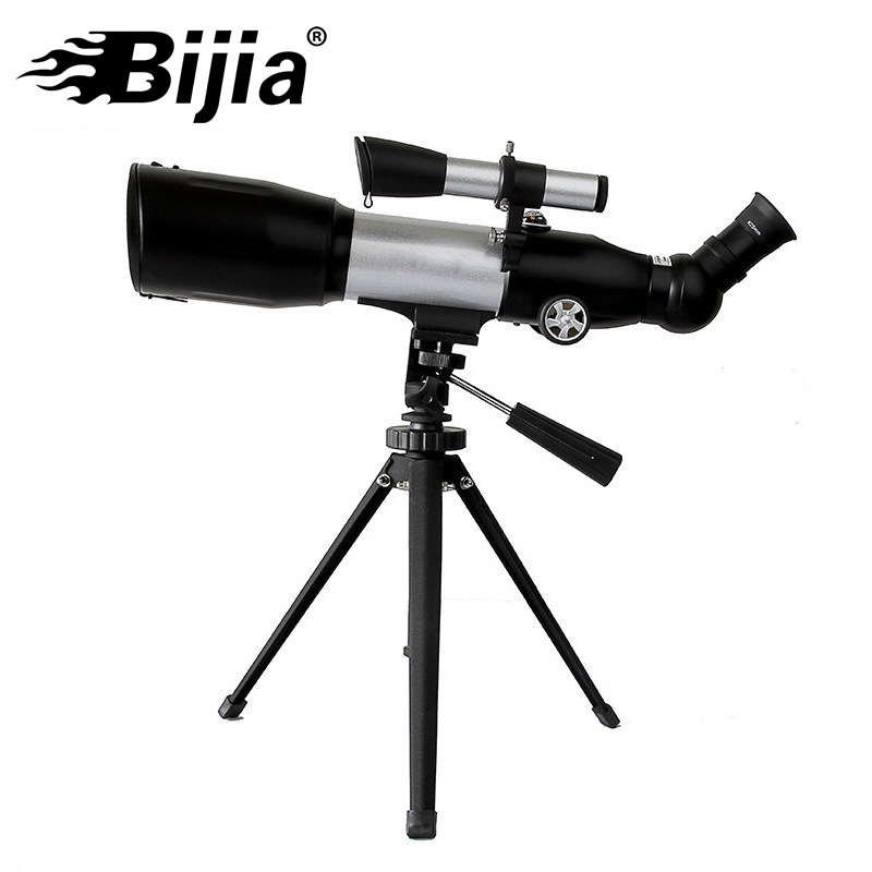 BIJIA 350x60 Telescope Astronomic Professional Finderscope Tripod Powerful Space Monocular Telescope Moon Watching