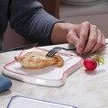 Керамический поднос для хлеба креативный поднос для тостов форма для хлеба креативная ручная роспись глазурь Дезерт тарелка для завтрака Х...