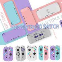 Para Nintendo interruptor NS alegría Con vivienda de reemplazo de la cubierta de la cáscara del Nintend interruptor NX JoyCons controlador Joystick vivienda caso de Shell