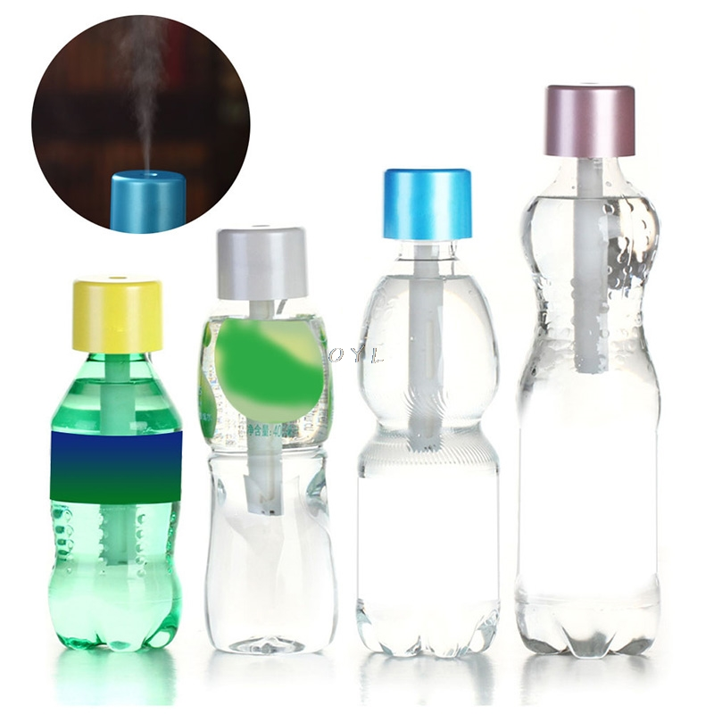 Portable Mini Water Bottle Caps Humidifier Aroma Air Diffuser Mist Maker 1PcPortable Mini Water Bottle Caps Humidifier Aroma Air Diffuser Mist Maker 1Pc