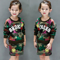 Crianças desgaste de manga comprida camisola Saia Terno Meninas crianças Coreano roupas casuais 2017 nova primavera O B703