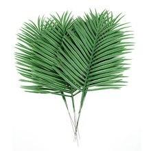 Artificial palm leaves Green plants  Decorative Flowers / wedding decoration /artificial flowers for 36 cm long