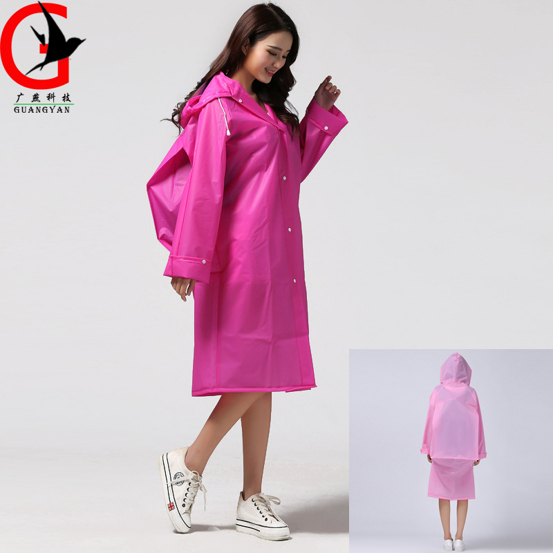 translucent long man&woman Rainwear Universal Poncho Waterproof Hiking Tour Hooded Rain Coat Include Schoolbag Position TX-2