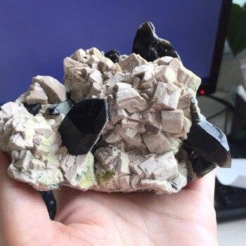 574g Natural Black Quartz Crystal Cluster Rock Stone Specimen Healing Quartz Reiki feng shui Minerals Ornament