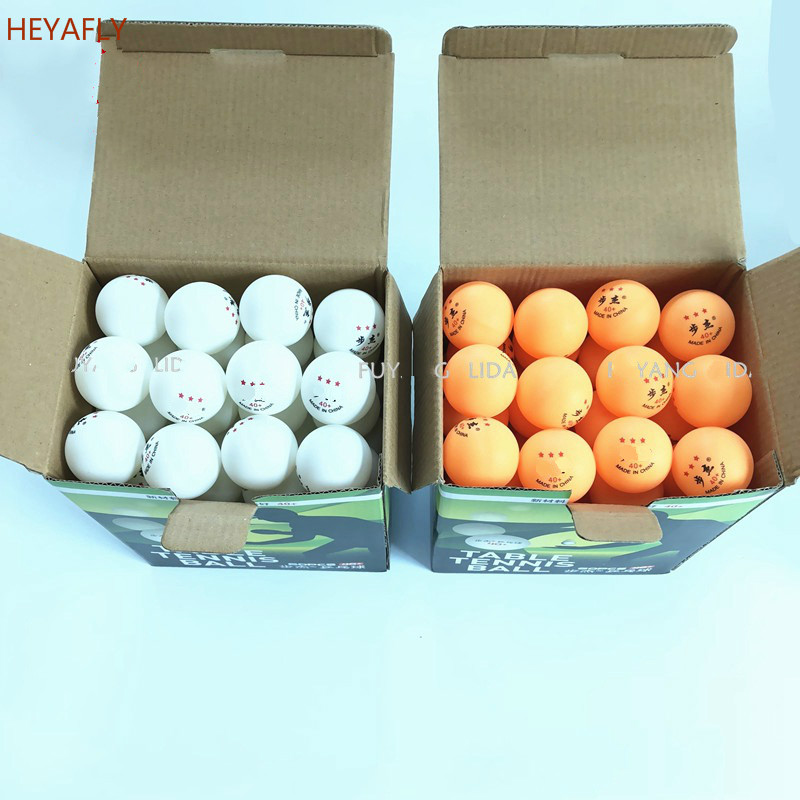 Three Stars High Quality Table Tennis 60/120 Packaging 40MM ABS ROHS Material Competition Training  Pingpong Ping-Pong Ball