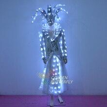 LED luminous magician clothing luminous performance clothes