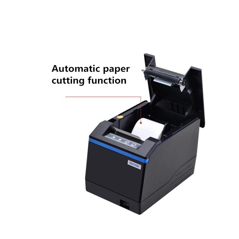 New thermal barcode label bill double printer qr code sticker price tag  barcode cashier small receipt printer Alarm remind