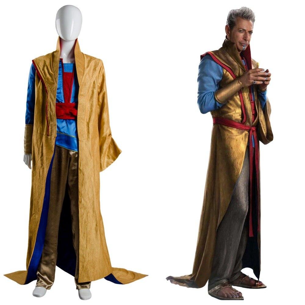 Thor 3 Ragnarok Grandmaster En Dwi Gast Cosplay Costume Outfit Robe Cloak Suit Full Set